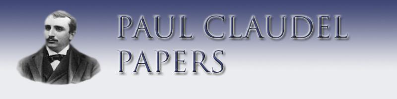Paul Claudel Papers